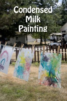 Life with Moore Babies: shiny paintings with condensed milk