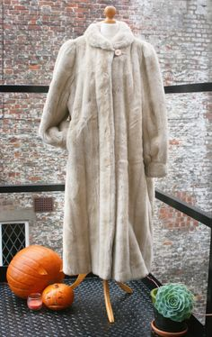 Pure Luxury! fake fur floor length coat. M/L
