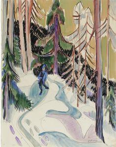 Ernst Ludwig Kirchner «Spaziergang im Walde»