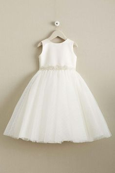 d67e099cdc0d Girls Satin   Lattice Tulle Dress