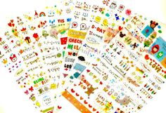 Items similar to Cute Kawaii KOREAN cartoon STICKERS set 6 pcs stationery scrapbook DIY sweet love heart on Etsy Cartoon Stickers, Cute Stickers, Korean Stickers, Japanese Cartoon, Stationery Items, Diy Scrapbook, Love Is Sweet, Filofax, Love Heart