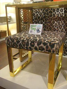 Polished brass frame with bagira spot upholstery by Port 68  #HATtag #hpmkt @designonhpmkt