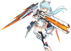 Anime Arms, Me Anime, Female Characters, Anime Characters, Closers Online, Frame Arms Girl, Sci Fi Armor, Warrior Girl, Elsword