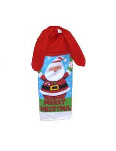 Kitchen Hand Towel, Santa Dish Towel, Christmas Towel, Hanging Towel, Tie On