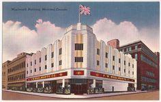 Montreal Canada Woolworth Building Vintage Postcard | eBay