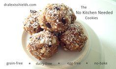No-bake, grain-free, dairy-free cookies