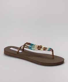 This Turquoise Pukalit Flip-Flop by Keikei's Coconut Sandals is perfect! #zulilyfinds