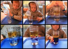 Kikiricosas: Experimento: Agua y aceite Kid Science, Montessori Science, 4 Kids, Class Ring, Crafts, Dress, School, Vase, Science Experiments For Kids