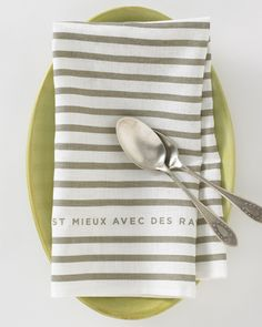 The classic mariniere stripe: Everything is Better with Stripes, in French. $24 at Studiopatro.com
