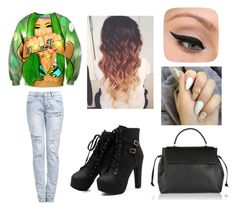 """""""Dem nails doe"""" by mylittlepokemon on Polyvore featuring Lanvin and LORAC"""
