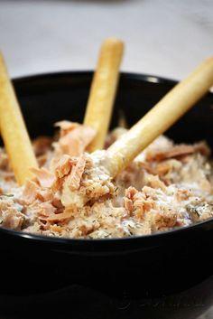 Sabor: Ντιπ με τόνο / Tuna dip Tuna Dip, Dips, Cereal, Salads, Appetizers, Breakfast, Jar, Recipe, Food