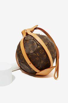 Vintage Louis Vuitton Monogram Leather Soccer Ball