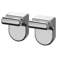 IKEA - KALKGRUND, Knob hanger, chrome plated, No visible screws, as the hardware is concealed. The chrome finish is durable and resistant to corrosion. May be combined with other products in the KALKGRUND series. Glass Shelves Ikea, Glass Shelves In Bathroom, Floating Glass Shelves, Shower Shelves, Small Bathroom, Bathroom Ideas, Glass Bathroom, Master Bathroom, Bathrooms