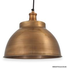 Brooklyn Vintage Giant Hat Metal Lampshade - Dark Grey Pewter - 21 ...