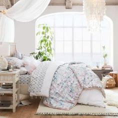 Watercolor Prism Beadboard Bedroom