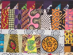 There's a vendor from Ghana who sells African scrap bundles and yardage off the bolt. I bought some of his fabrics at the last Empire Quilt. African Quilts, Medallion Quilt, Fabric Art, Baby Quilts, Quilt Blocks, Scrap, Gift Wrapping, Textiles, Blanket