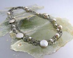 bejeweled series, freshwater pearls and silver; kathy van kleeck