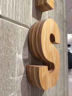 IDEA: 3D wood lettering, meeting room signage