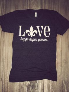 Kappa Kappa Gamma T-shirt. Charlie Southern Greek Love T-shirt. You will love the super soft feel of this Sorority t-shirt. Comfort and style all in one. The perfect Greek t-shirt for wearing with jeans!