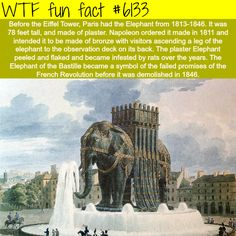 Elephant of the Bastille - WTF fun facts