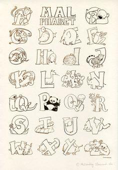 Die 27 Besten Bilder Von Alphabet Malvorlagen Hand Lettering