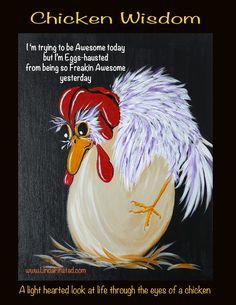 Cartoon Chicken, Chicken Humor, Chicken Crafts, Chicken Art, Chickens And Roosters, Pet Chickens, Funny Jokes And Riddles, Chicken And Cow, Chicken Painting