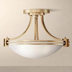 "Close To Ceiling Lights Magnificent Caliari 5Light 18"" Wide Brass Ceiling Light  Brass Ceiling Light 2018"