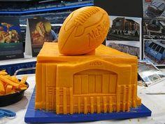 cheese sculpture Lucas Oil