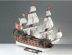The Corel Wappen Von Hamburg wooden ship model is an accurate reproduction of the real German ship.