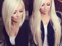 Change Your Look In Seconds With Human Hair Clip In Extensions – My Hair Extensions Clip In Extensions, 100 Human Hair Extensions, Ice Blonde Hair, Natural Hair Styles, Short Hair Styles, Human Hair Clip Ins, Clips, Gorgeous Hair, Amazing Hair