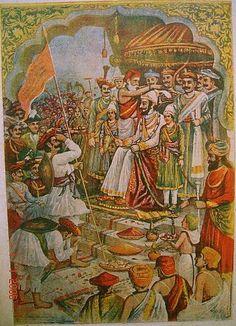 The coronation of Chhatrapati Shivaji Maharaj