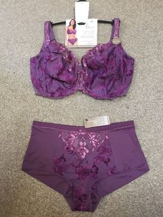 M&S ADORED Balcony BRA with Swiss Embroidery UK36DD EU80DD+Knickers UK14 RRP£33
