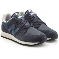 New Balance U520D Sneakers ($125) ❤ liked on Polyvore featuring men's fashion, men's shoes, men's sneakers, blue, new balance mens shoes, mens navy blue sneakers, mens mesh sneakers, mens mesh shoes and mens sport shoes
