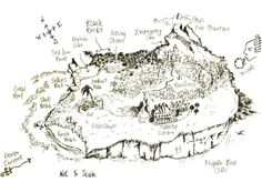 Nim's Island Map. I love this movie and her house!
