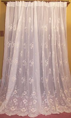 Vintage French Country Victorian Chic Croscill Floral Silk Drapes ...