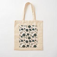 Cotton Tote Bags, Reusable Tote Bags, Custom Bags, Flower Prints, Blue Flowers, Printed Cotton, Floral Design, Art Prints, Luxury
