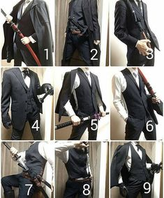 for more! Suit + Swords = best combination - Crediollow for more! Suit + Swords = best combination - Credi Embedded drawing Long coat + formal robe for all your suiting and wizarding needs. Drawing Reference Poses, Drawing Poses, Sword Reference, Anime Outfits, Cool Outfits, Suit Drawing, Shading Drawing, Mode Alternative, Look Man