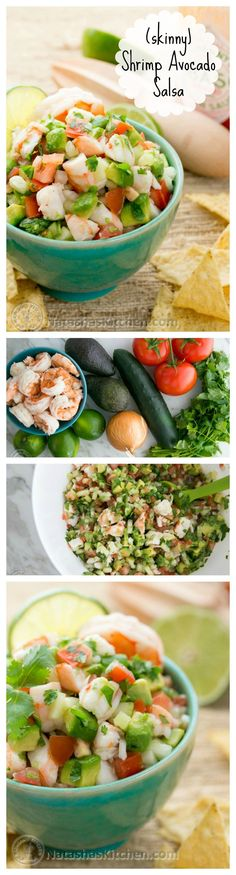 Skinny avocado shrimp salsa
