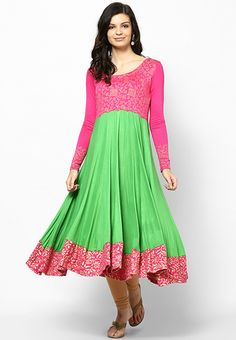 Viscose Green Printed Kurta - Ira Soleil Kurtas & kurtis for women | buy women kurtas and kurtis online in indium