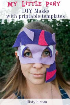 DIY My Little Pony Masks with Printable Templates