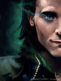 Loki - The Frost Giant (animated) by riotfaerie // Woah woah woah! This is amazing!