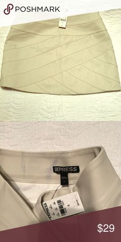 Leather mini skirt Criss cross details mini skirt Express Skirts Mini