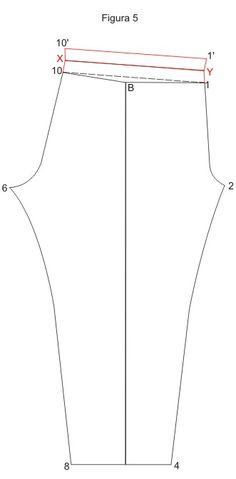Cortando e Costurando A - B = 1/4 do Quadril; A - C e B - D = Altura da Calça até o tornozelo.