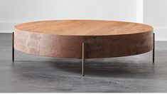 Proctor Low Round Wood Coffee Table |