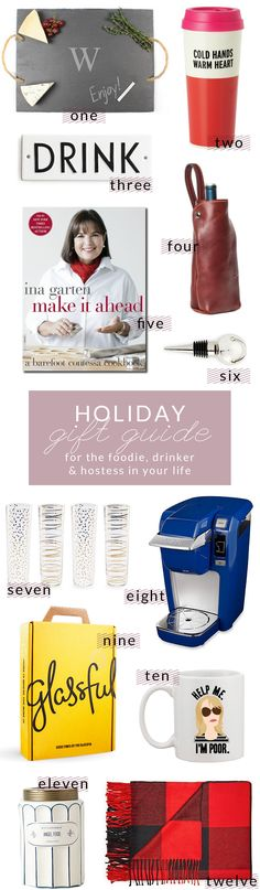 Holiday Gift Guide - For The...Foodie, Drinker, and Hostess In Your Life - Poor Little It GirlPoor Little It Girl