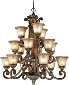 Carlyle 15-Light Shaded Chandelier #lighting #lights
