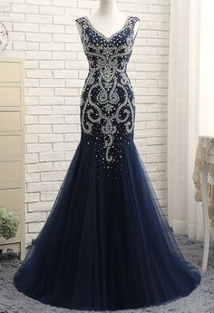 100% Same Real Photo Backless Mermaid New Evening dresses 2017 Luxurious Sexy Evening Gowns robe de soiree