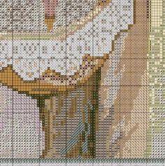 Borduurpatroon Kruissteek Mucha *Embroidery Cross Stitch Pattern ~Flower (1897) 2/10~