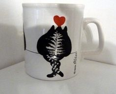 Kliban cats in love mug