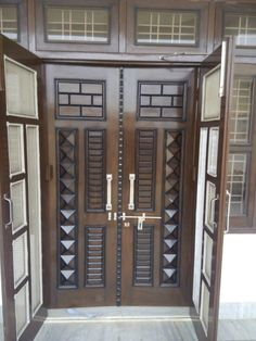 new door desiogn gallery House Main Door Design, Wooden Front Door Design, Home Door Design, Main Entrance Door Design, Double Door Design, Door Gate Design, Door Design Interior, Wooden Double Doors, Wooden Doors